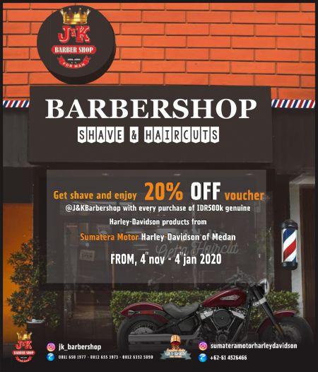 Get shave and enjoy 20% OFF Voucher Discount