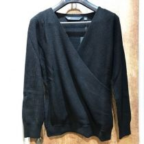 レディース WOOL-BLEND CROSSOVER SWEATER