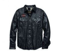 Men's Leather Shirt Jacket