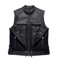 Men's Synthesis Pocket System Leather/Textile Vest