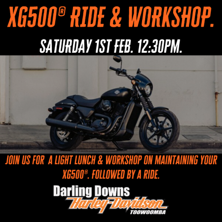 XG500 Street 500® Workshop & Ride.