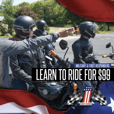 Military/First Responders: Learn to Ride for $99