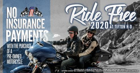 NO Insurance payments in 2020 w/ purchase of pre-owned motorcycle