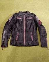 JACKET-CANT,LEATHER,BLK