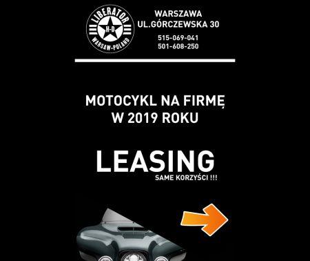 Motocykl na firmę – Leasing w 2019 roku.