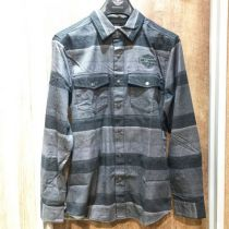 メンズ HORIZONTAL OMBRE STRIPE SHIRT