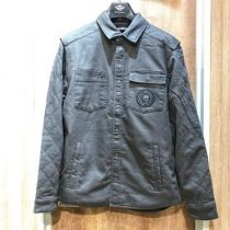 メンズ DIAMOND QUILTED SHIRT JACKET