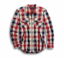 #1 PLAID ZIPPERED SHIRT