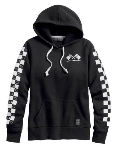 CHECKRED PULLOVER HOODIE