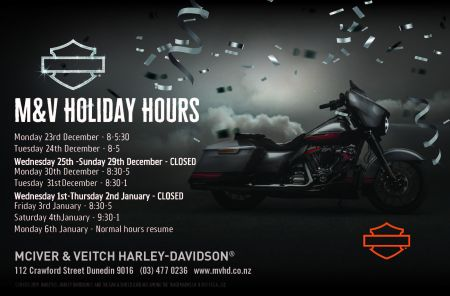 M&V Holiday Hours