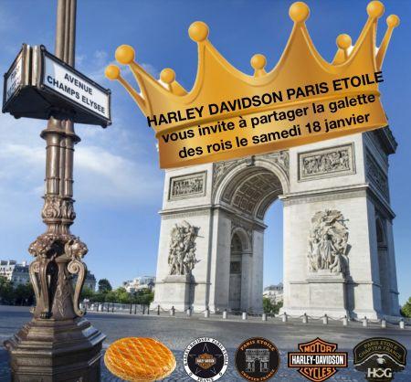 LA GALETTE DES ROIS débarque chez HARLEY DAVIDSON PARIS ETOILE