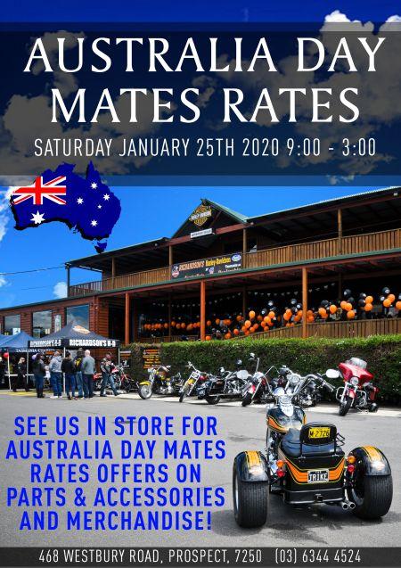 Australia Day Mates Rates!