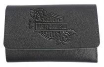 Harley-Davidson® Women's Rose B&S Embossed Leather Tri-Fold Wallet