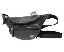 Harley-Davidson® Womens Black Leather Rider Waist Pack
