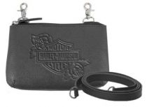 Harley-Davidson® Women's Rose B&S Embossed Leather Hip Bag w/ Strap