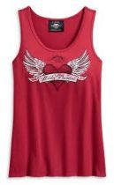 TANK-WINGED HEART,SLEEVE LESS,KNIT,RED