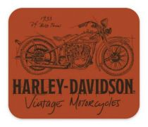 Timeline Motorcycle Neoprene Office Mouse Pad