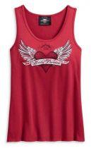 Harley-Davidson® Women's Winged Heart Sleeveless Tank Top