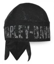 Distressed H-D Polyester Headwrap