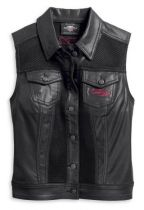 Harley-Davidson® Women's Mesh Inset Embellished Heart Vest
