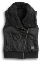 Harley-Davidson® Women's Reversible Sherpa Fleece Biker Vest
