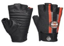 Harley-Davidson® Women's Mixed Media Fingerless Gloves w/ Coolcore