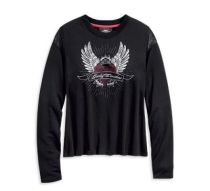 Harley-Davidson® Women's Winged Heart Long Sleeve Tee