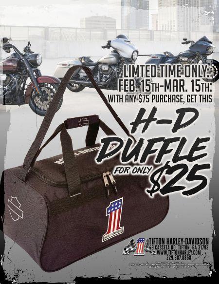 Duffel Bag Promo!