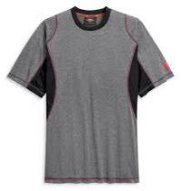 TEE-PERFORM WICKING,SHORT SLEEVE,KNIT,CLEAR BLACK