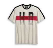 TEE-HD CHEST STRIPE,SHORT S,LEEVE KNIT,OFF WHITE