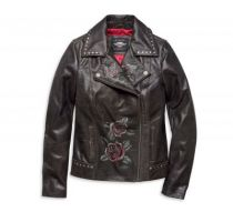 ROSES & STUDS BIKER LEATHER JACKET