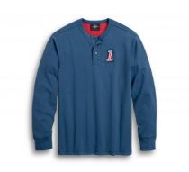 FREEDOM HENLEY-KNIT BLUE