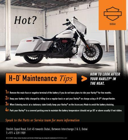 H-D Maintenance Tips #1