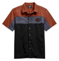 Harley-Davidson® Men's Copperblock Short Sleeve Woven Shirt