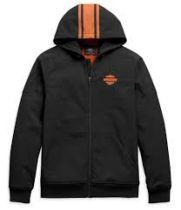 Harley-Davidson® Men's Vertical Stripe Hooded Stretch Casual Jacket