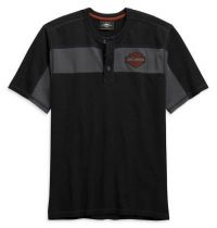 Harley-Davidson® Men's Copperblock Short Sleeve Henley Shirt