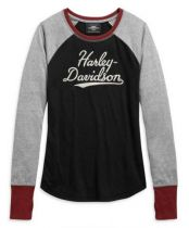 Harley-Davidson® Women's Marled H-D Colorblocked Long Sleeve T-Shirt
