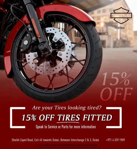 15% OFF Tires