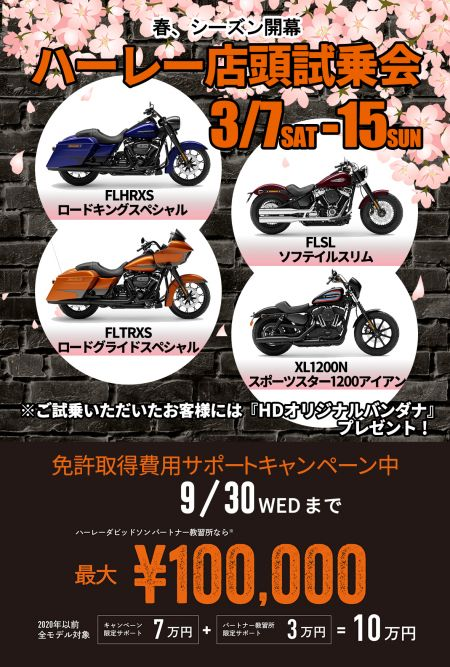春の店頭試乗会 3/15(日)まで