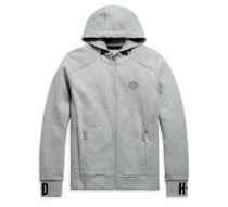 Džemperis KNIT GREY Rib-Knit Side Hoodie