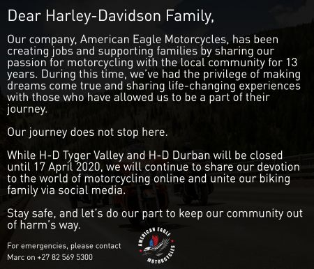 American Eagle Motorcycles Statement
