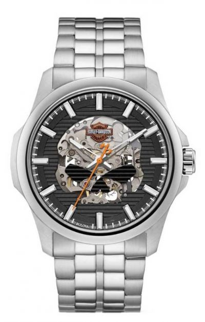 Willie G Skull Self-Winding Stainless Steel Watch