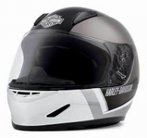 Boys Youth Killian H30 B&S White Full Face Helmet