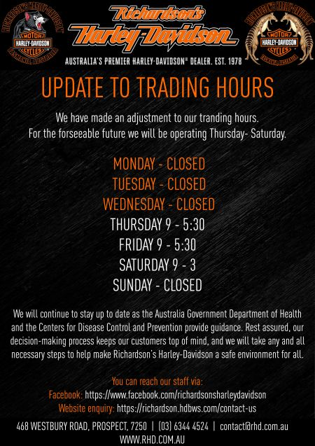 Updated Trading Hours
