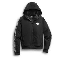 HOODIE-PLUSH LINED,FULL ZIP,L/S,KNT,BLK