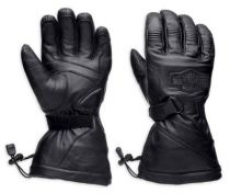 Harley-Davidson® Men's Circuit Waterproof Gauntlet Leather Gloves