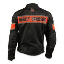 Harley-Davidson® Men's Trenton Colorblocked Mesh Riding Jacket, Black