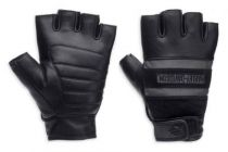 Harley-Davidson® Men's Centerline Reflective Fingerless Leather Gloves