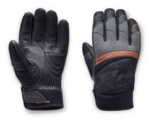 Harley-Davidson® Men's Killian Mixed Media Full-Finger Gloves, Black