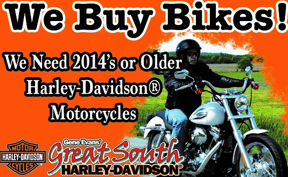 We Buy 2014 and older Harley Davidson